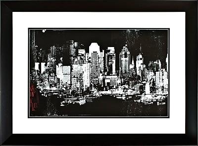 PTM Images NY Skyline Framed Graphic Art