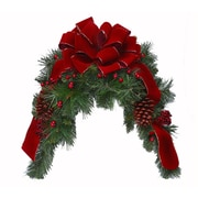 Floral Home Decor Burgundy Holiday Mailbox Swag