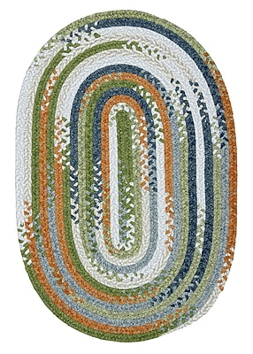 Colonial Mills Rag-Time Orange/Multi Kids Area Rug; 3' x 5'