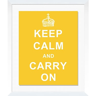 PTM Images Keep Calm Framed Textual Art in Yellow