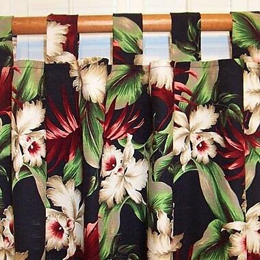 Hanalei Orchids Single Curtain Panel