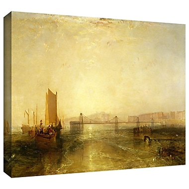 ArtWall 'Brighton from the Sea' by William Turner Painting Print on Wrapped Canvas; 18'' H x 36'' W