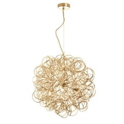 Dainolite Baya 6-Light Geometric Pendant; Gold