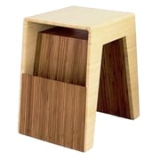 Brave Space Design Hollow End Table; Natural