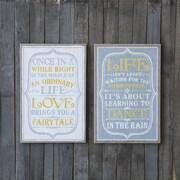 Creative Co-Op Urban Homestead Life Message 2 Piece Textual Plaque Set (Set of 2)