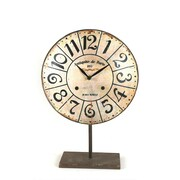 Creative Co-Op Metal Clock on Stand