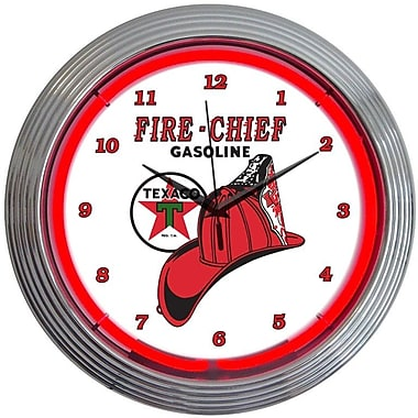 Neonetics 15'' Texaco Fire Chief Neon Clock