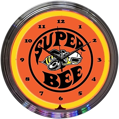 Neonetics 15'' Super Bee Neon Clock