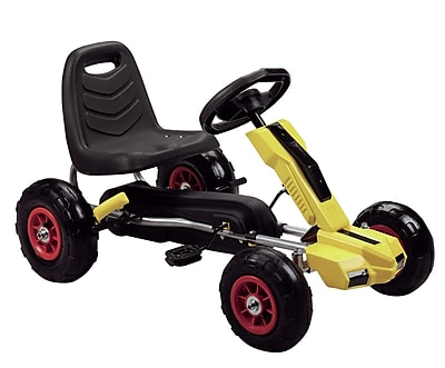 Vroom Rider Power Pedal Go Kart; Yellow