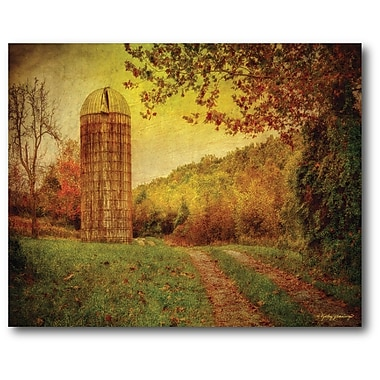 Courtside Market Farmhouse Canvas Barn Down the Road Painting Print on Wrapped Canvas