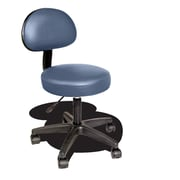 NRG Rolling Stool w/ Removable Backrest; Agate Blue
