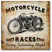 Courtside Market Farmhouse Canvas Motorcycle Race Vintage Advertisement on Wrapped Canvas