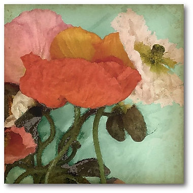 Courtside Market Aquatic Poppies II Painting Print on Wrapped Canvas