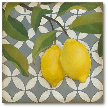 Courtside Market Fruit and Pattern I Graphic Art on Wrapped Canvas