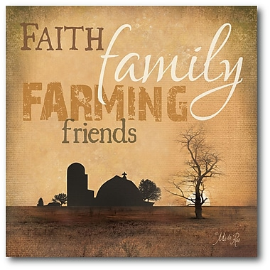 Courtside Market Farmhouse Canvas Family Faith Vintage Advertisement on Wrapped Canvas