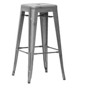 Wholesale Interiors Baxton Studio 30.5'' Bar Stool (Set of 2); Gun Metal