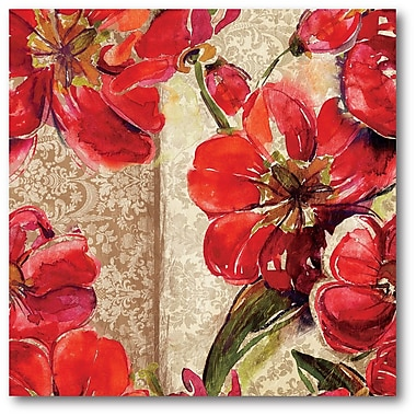 Courtside Market Flowers I Painting Print on Wrapped Canvas