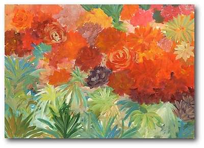 Courtside Market Coral Daisy Garden II Painting Print on Wrapped Canvas