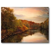 Courtside Market Farmhouse Canvas Sunset Pond Photographic Print on Wrapped Canvas