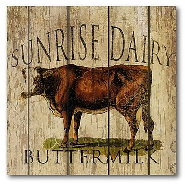Courtside Market Farmhouse Canvas Sunrise Dairy Buttermilk Graphic Art on Wrapped Canvas