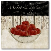 Courtside Market Farmhouse Canvas Macintosh Apples Graphic Art on Wrapped Canvas