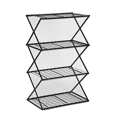 FlowerHouse 4-Tier Exy Shelving System, Black
