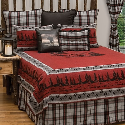 Wooded River Moose Hollow Coverlet; Full / Queen
