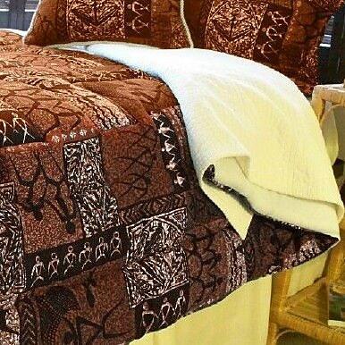 Hanalei Tiki Coco Comforter; Queen