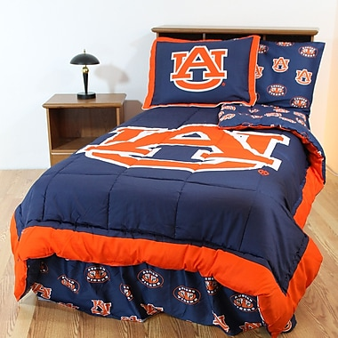 College Covers NCAA Auburn Reversible Bed in a Bag Set; Full