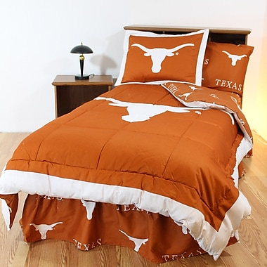 College Covers NCAA Texas Reversible Bed in a Bag Set; Queen