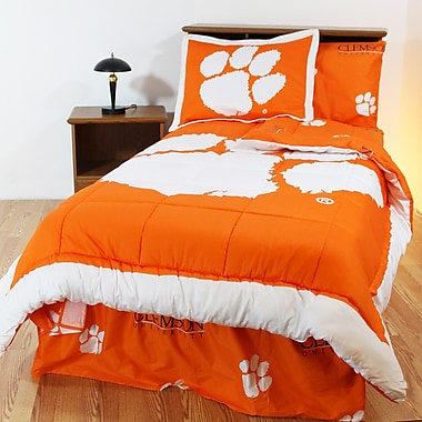 College Covers NCAA Clemson Reversible Bed in a Bag Set; Twin