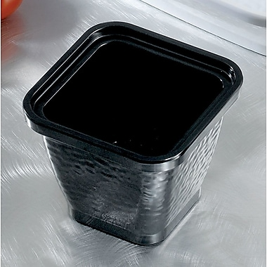 Bon Chef Dynasty Square Melamine Serving Bowl; Black