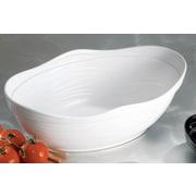 Bon Chef Euro Round Melamine Serving Bowl; Black