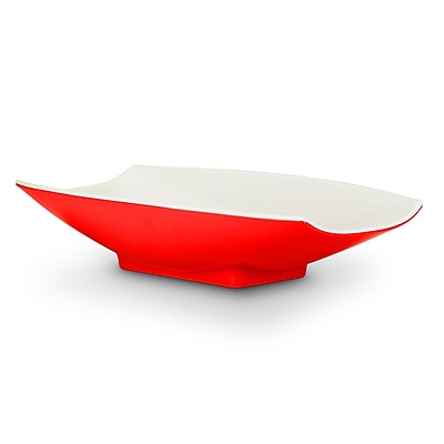 Bon Chef 8 oz. Melamine Curves Bowl; Red