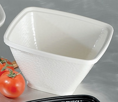 Bon Chef Dynasty Square Melamine Serving Bowl; White WYF078277577583