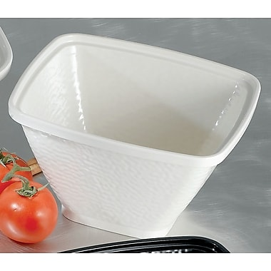 Bon Chef Dynasty Square Melamine Serving Bowl; White