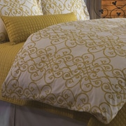 DownTown Company Frecia Scroll Duvet Cover; Super Queen
