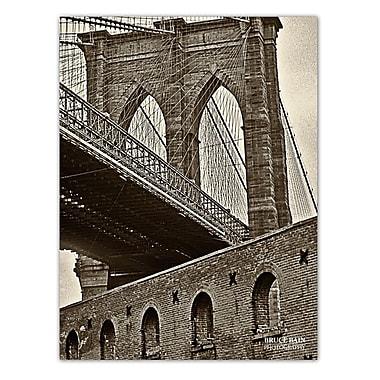 Ready2hangart 'Brooklyn Bridge' by Bruce Bain Photographic Print on Wrapped Canvas