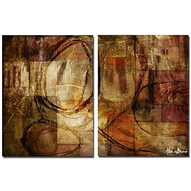 Ready2hangart Oversized Abstract 2-Piece Print of Painting on Canvas Set