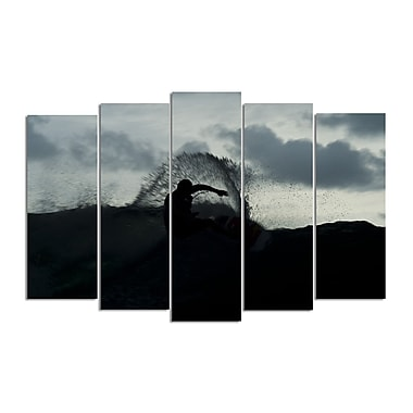 Ready2hangart 'Surf Silhouette' by Nicola Lugo 5 Piece Photographic Print on Wrapped Canvas Set