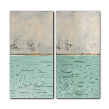 Ready2hangart Oversized Abstract 2 Piece Graphic Art on Canvas Set