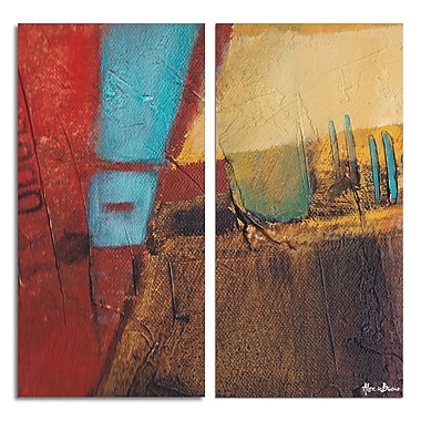 Ready2hangart 'Bueno Exchange XXXI' 2 Piece Painting Print on Wrapped Canvas Set