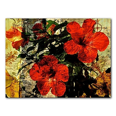 Ready2hangart Tropical Hibiscus Painting Print on Canvas