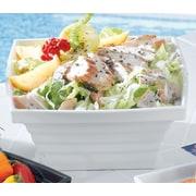 Bon Chef Americana Square Melamine Salad Bowl; White