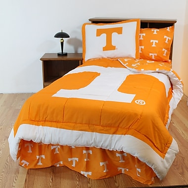 College Covers NCAA Tennessee Reversible Bed in a Bag Set; Queen