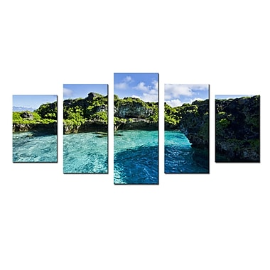 Ready2hangart 'Seaglass' by Christopher Doherty 5 Piece Photographic Print on Wrapped Canvas Set