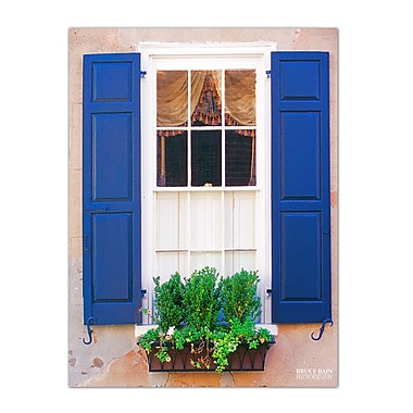 Ready2hangart 'Blue Shutters' by Bruce Bain Photographic Print on Wrapped Canvas