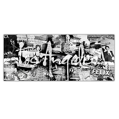 Ready2hangart Vintage B&W Los Angeles Graphic Art on Canvas