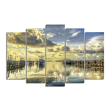 Ready2hangart 'Boat Dock' by Bruce Bain 5 Piece Photographic Print on Wrapped Canvas Set