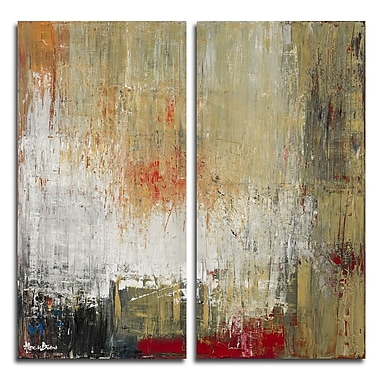Ready2hangart Bueno Exchange LXXII' 2 Piece Painting Print on Wrapped Canvas Set